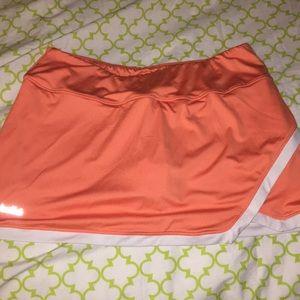 Bolle Orange and white tennis skirt L